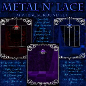 Metal N Lace Backgrounds (Exclusive)
