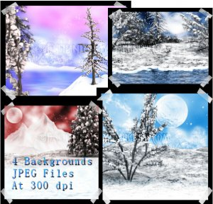 Winter's Moon Backgrounds *Exclusive*