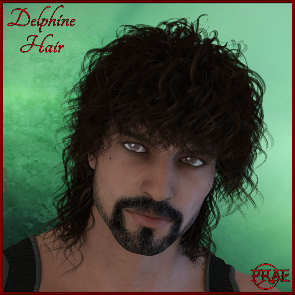 Delphine Hair for G3F/G3M Exclusive - Click Image to Close